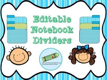 Editable dividers