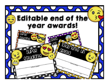 Editable end of the year awards!