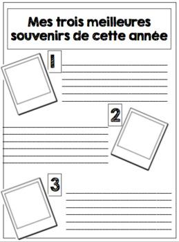 Editable end of year memory book -  Livre de mémoire de fin d'année modifiable