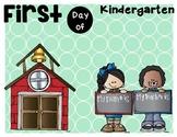 First day of kindergarten sign!