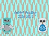 Editable guided reading binder cover