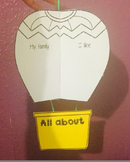 Editable hot air balloon (New class/end of year)