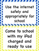 Editable iPad Classroom Rules Posters and Contract
