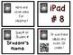 Editable iPad Labels
