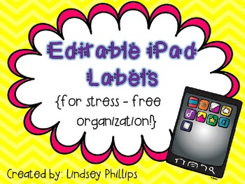 Editable iPad Labels