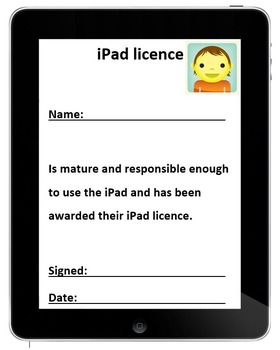 Editable iPad License