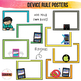EDITABLE iPad Rule Posters for Younger Kids | To Teach Digital Citizenship
