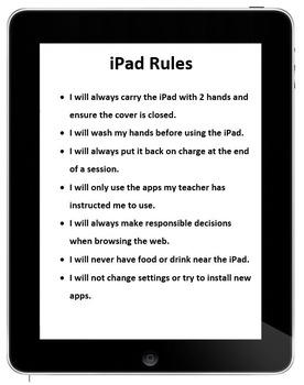 Editable iPad Rules
