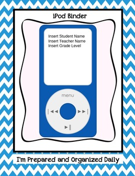 Editable iPod Binder Cover Pages in Chevron