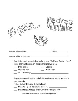 Editable in Spanish GO Green Fashion Show