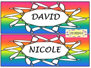 Editable Labels - Rainbow - Back to School Activity