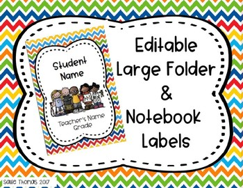 Editable large folder and notebook labels