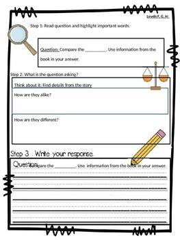 Editable mClass TRC Reading Comprehension Questions