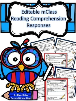 Editable mClass TRC Reading Comprehension Questions