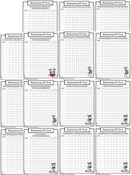 Editable mClass Reading &Star Reading Progress Monitoring Calendar & Data Sheets
