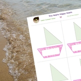 Editable multipurpose cards- boats