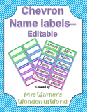 Editable name labels / tags - Chevron
