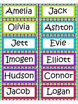 Editable name labels / tags - Dots