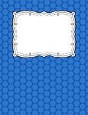 Editable pdf Colorful polka dot binder covers