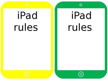 Editable rainbow iPad/tablets