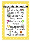 Editable schedule for specials