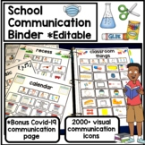 Editable visual communication binder for school. 2000+ picture exchange icons