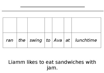 Editable sentence booklet for literacy rotations