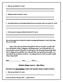 Editable series of behavior reflection worksheets by ...