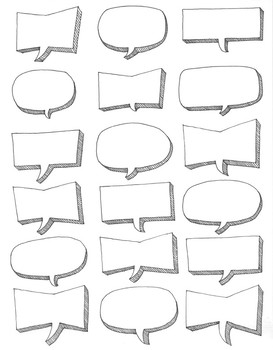 Editable speech bubbles ~Clip art ~Customize ~DIY ~Spanish ~French ~graphics