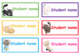 Editable student name and classroom labels- Cat Theme