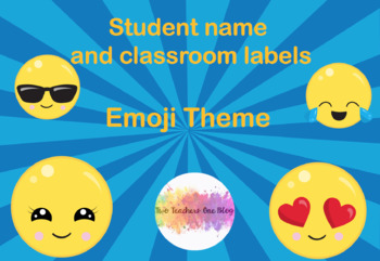 Editable student name and classroom labels- Emoji Theme