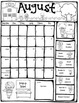 Editable take home behavior calendars