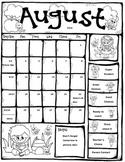 Editable take home behavior calendars