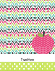 Teacher Binder Covers and Spines apple theme (Editable in PowerPoint)