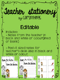 Editable teacher stationery