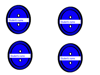 Editable text Buttons (similar to Pete the Cat's groovy buttons)