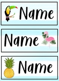 Editable tray labels- Tropical