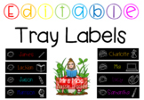 Editable tray labels - doodle faces