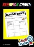 Editable Weekly Behavior Chart
