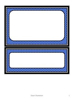 Word Cards in Twelve Colors