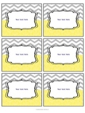 Editable yellow and gray labels