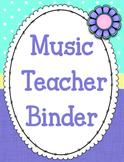 Editable Music Teacher Binder and Binder Covers {Garden of Music}