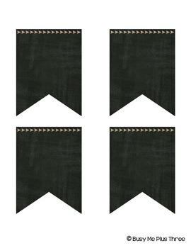 Editable Banners {Burlap & Chalkboard Theme VERSION 2}
