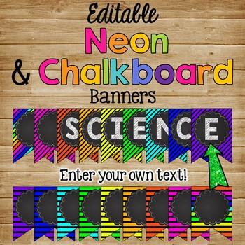 Editale Banner {Neon & Chalkboard Theme}