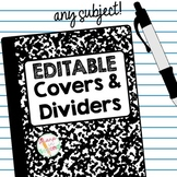 Editable Tabs and Covers for Journals and Notebooks