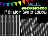 """Editble Chalkboard 1"""" Binder Spine Labels"""