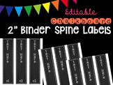 "Editble Chalkboard 2"" Binder Spine Labels"