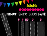 Editble Chalkboard Binder Spine Label PACK