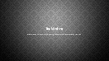 "Edith Hamiliton's ""The Fall of Troy"" PowerPoint"