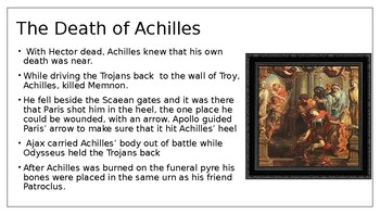 "Edith Hamilton's Mythology ""The Fall of Troy"" Powerpoint"